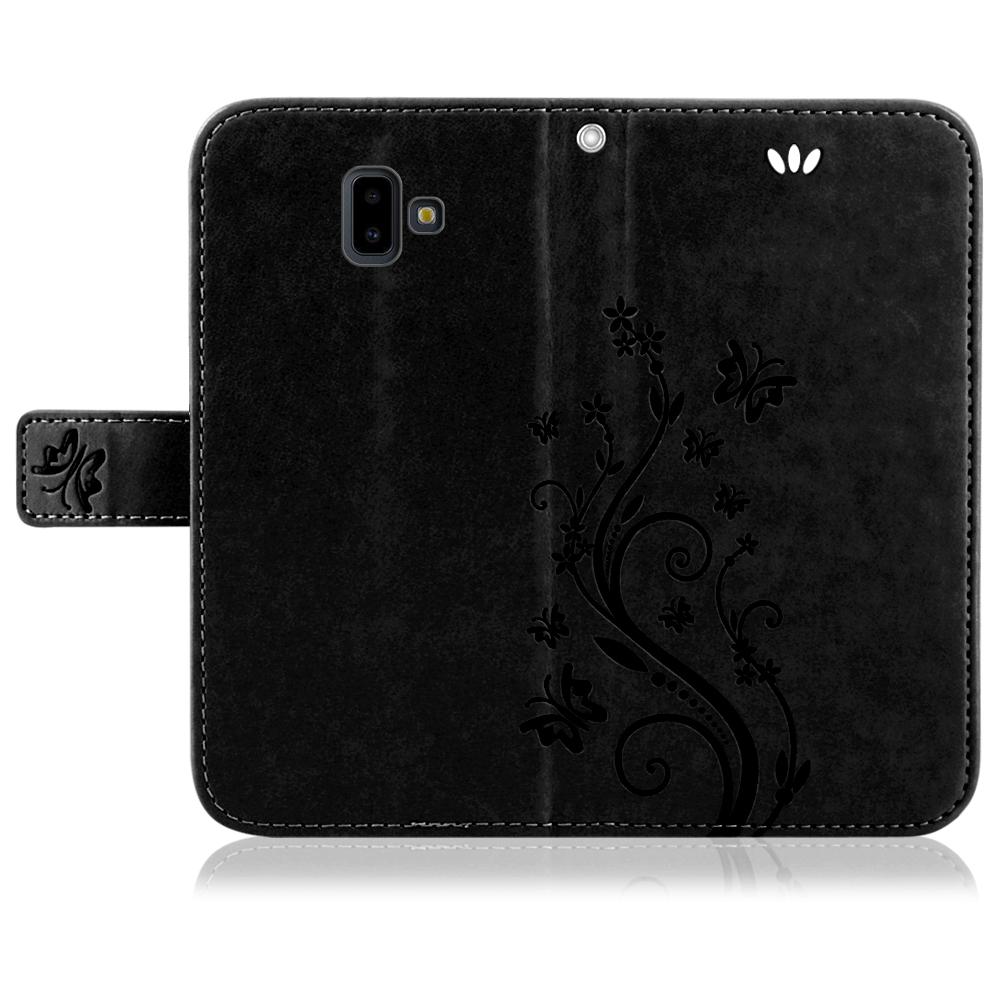 Samsung-Handy-Tasche-Handyhuelle-Schutz-Huelle-Blumen-Flip-Cover-Buch-Case-Etui Indexbild 184