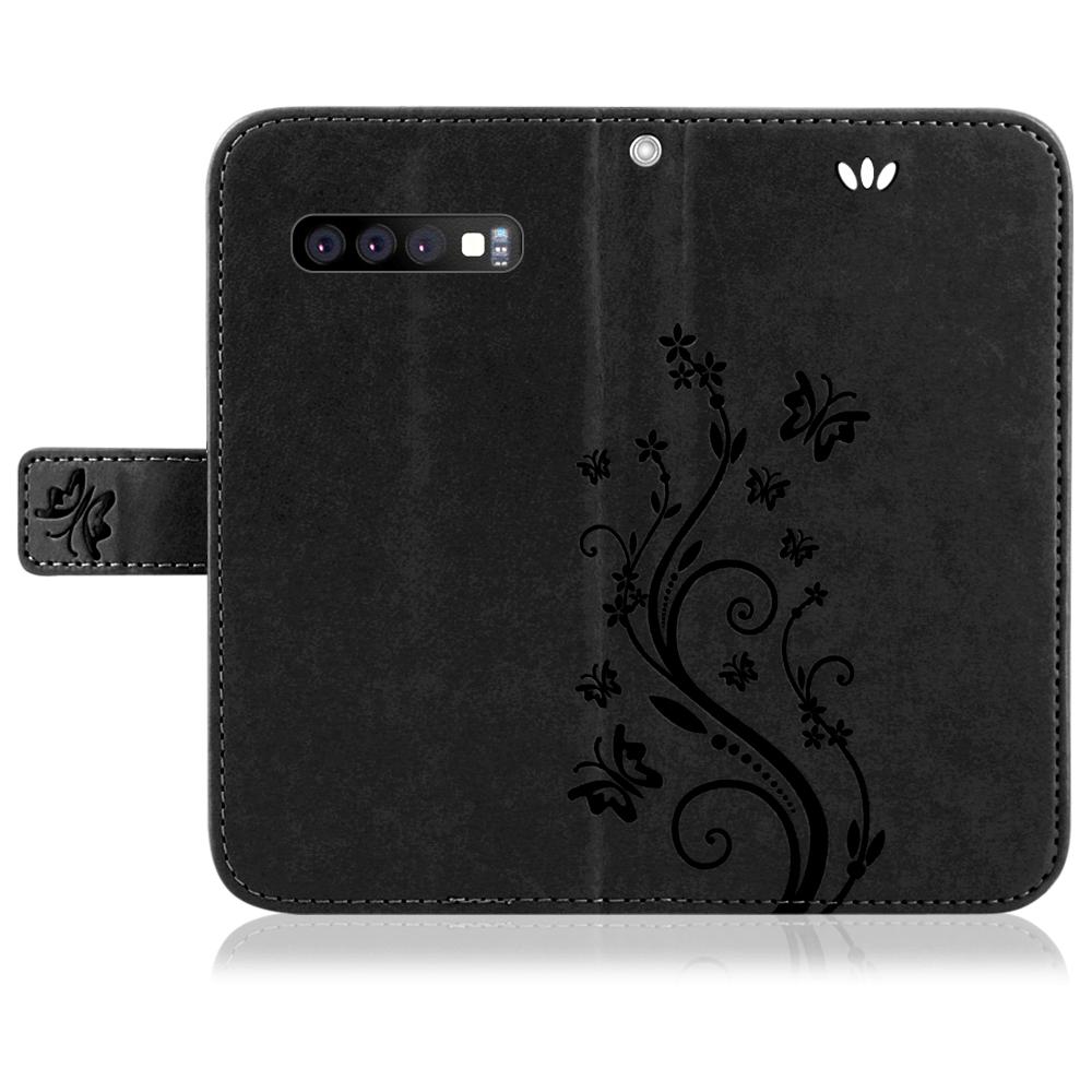Samsung-Handy-Tasche-Handyhuelle-Schutz-Huelle-Blumen-Flip-Cover-Buch-Case-Etui Indexbild 85