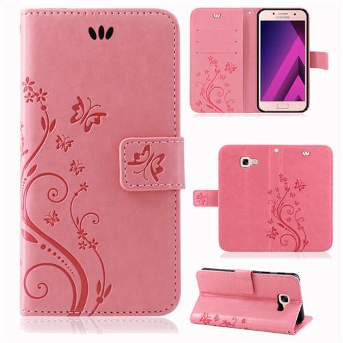 Samsung-Handy-Tasche-Handyhuelle-Schutz-Huelle-Blumen-Flip-Cover-Buch-Case-Etui Indexbild 112