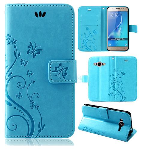 Samsung-Handy-Tasche-Handyhuelle-Schutz-Huelle-Blumen-Flip-Cover-Buch-Case-Etui Indexbild 164