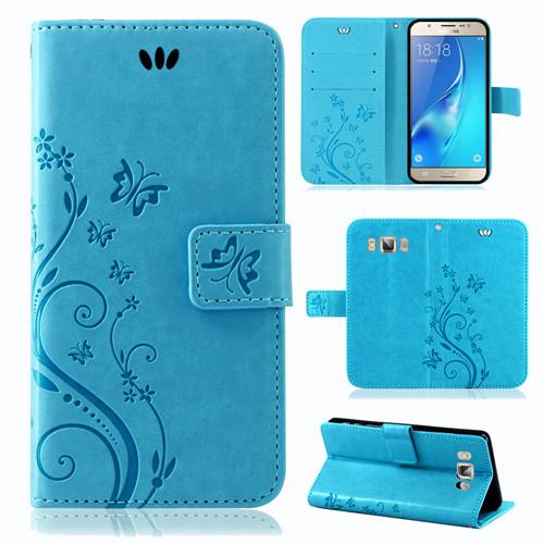 Samsung-Handy-Tasche-Handyhuelle-Schutz-Huelle-Blumen-Flip-Cover-Buch-Case-Etui Indexbild 189