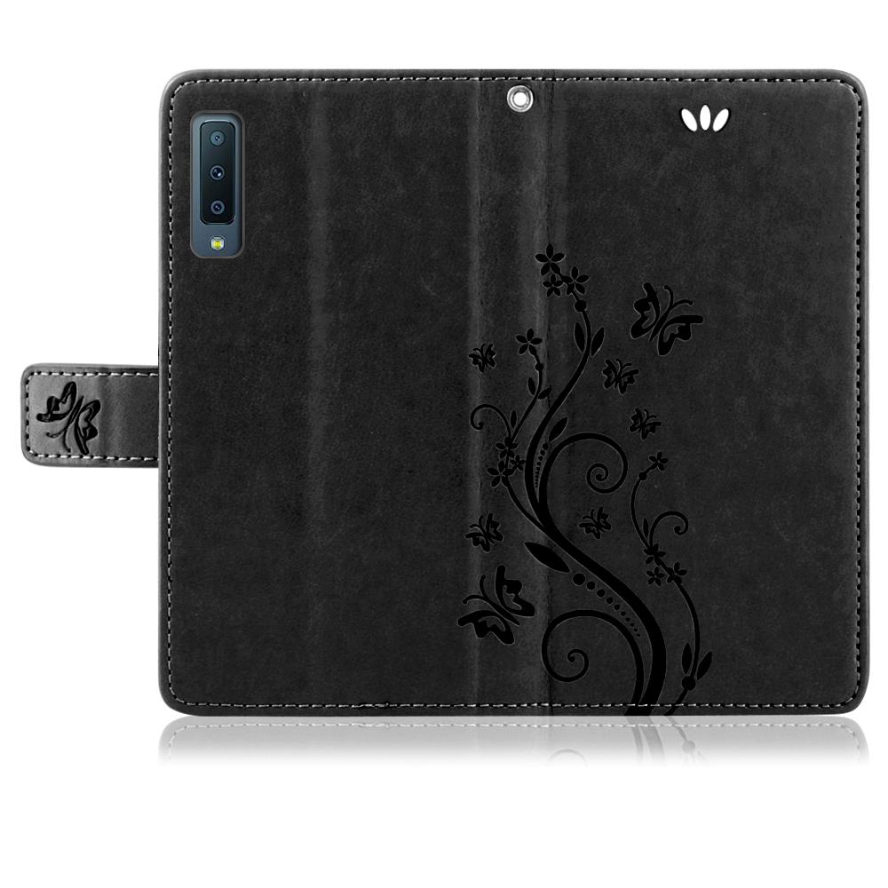 Samsung-Handy-Tasche-Handyhuelle-Schutz-Huelle-Blumen-Flip-Cover-Buch-Case-Etui Indexbild 134