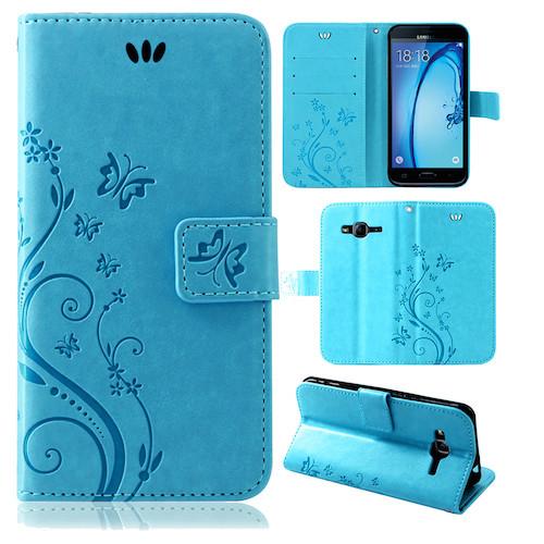Samsung-Handy-Tasche-Handyhuelle-Schutz-Huelle-Blumen-Flip-Cover-Buch-Case-Etui Indexbild 149
