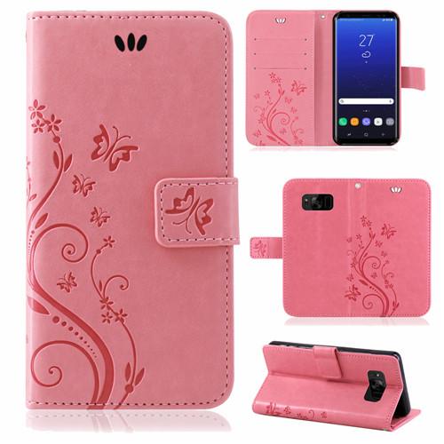 Samsung-Handy-Tasche-Handyhuelle-Schutz-Huelle-Blumen-Flip-Cover-Buch-Case-Etui Indexbild 67