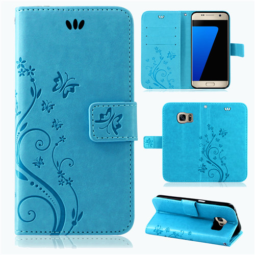 Samsung-Handy-Tasche-Handyhuelle-Schutz-Huelle-Blumen-Flip-Cover-Buch-Case-Etui Indexbild 59