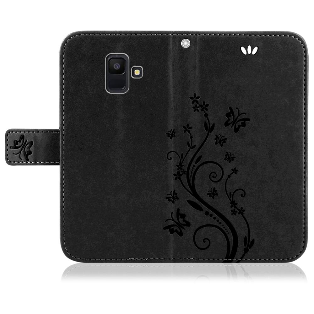 Samsung-Handy-Tasche-Handyhuelle-Schutz-Huelle-Blumen-Flip-Cover-Buch-Case-Etui Indexbild 126