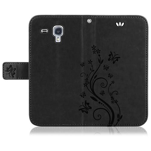 Samsung-Handy-Tasche-Handyhuelle-Schutz-Huelle-Blumen-Flip-Cover-Buch-Case-Etui Indexbild 20