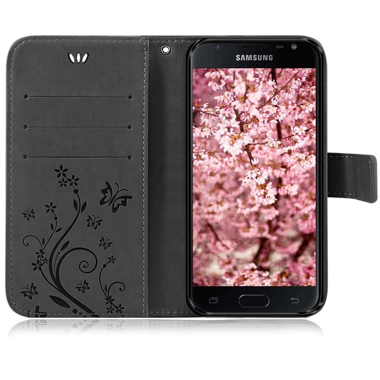 Samsung-Handy-Tasche-Handyhuelle-Schutz-Huelle-Blumen-Flip-Cover-Buch-Case-Etui Indexbild 157
