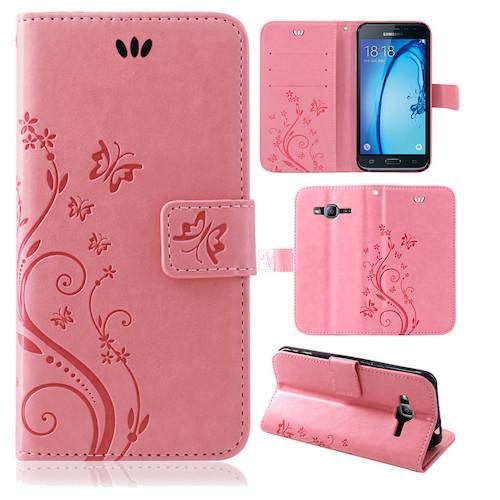Samsung-Handy-Tasche-Handyhuelle-Schutz-Huelle-Blumen-Flip-Cover-Buch-Case-Etui Indexbild 152