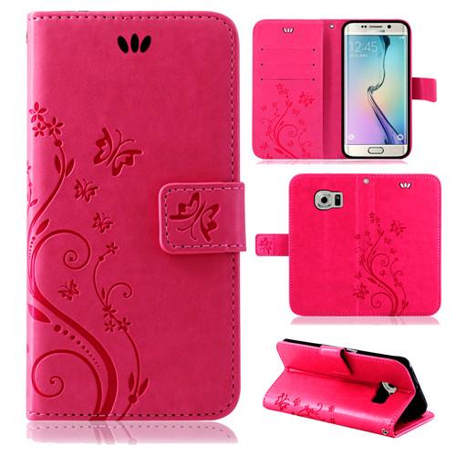 Samsung-Handy-Tasche-Handyhuelle-Schutz-Huelle-Blumen-Flip-Cover-Buch-Case-Etui Indexbild 50