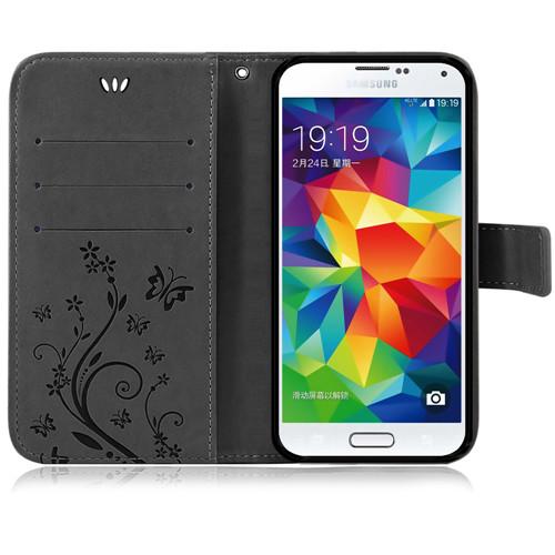 Samsung-Handy-Tasche-Handyhuelle-Schutz-Huelle-Blumen-Flip-Cover-Buch-Case-Etui Indexbild 40