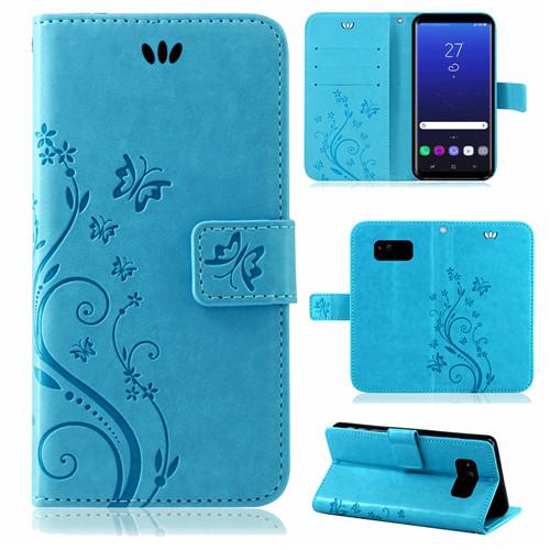Samsung-Handy-Tasche-Handyhuelle-Schutz-Huelle-Blumen-Flip-Cover-Buch-Case-Etui Indexbild 64