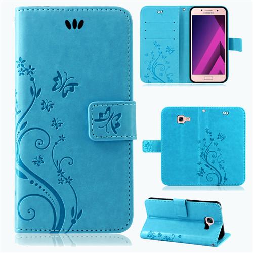 Samsung-Handy-Tasche-Handyhuelle-Schutz-Huelle-Blumen-Flip-Cover-Buch-Case-Etui Indexbild 109