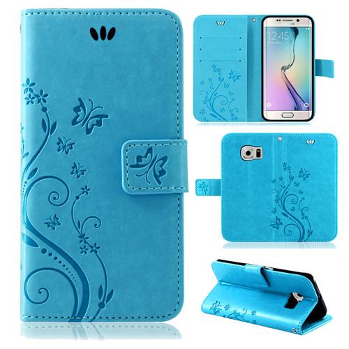 Samsung-Handy-Tasche-Handyhuelle-Schutz-Huelle-Blumen-Flip-Cover-Buch-Case-Etui Indexbild 49