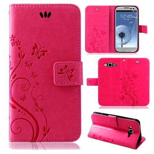 Samsung-Handy-Tasche-Handyhuelle-Schutz-Huelle-Blumen-Flip-Cover-Buch-Case-Etui Indexbild 15