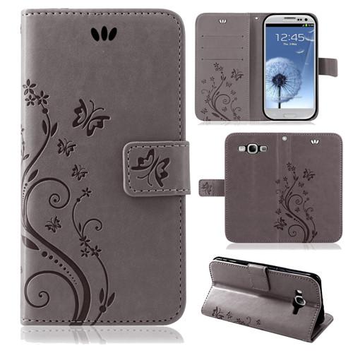 Samsung-Handy-Tasche-Handyhuelle-Schutz-Huelle-Blumen-Flip-Cover-Buch-Case-Etui Indexbild 16