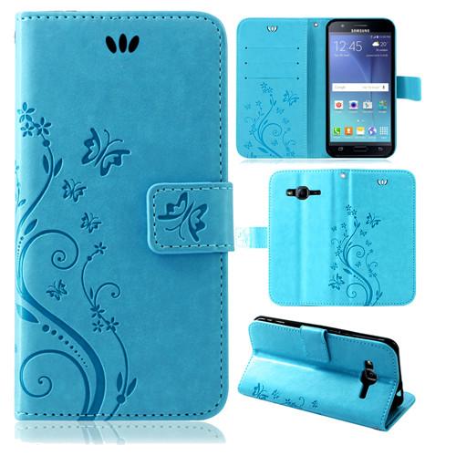 Samsung-Handy-Tasche-Handyhuelle-Schutz-Huelle-Blumen-Flip-Cover-Buch-Case-Etui Indexbild 159