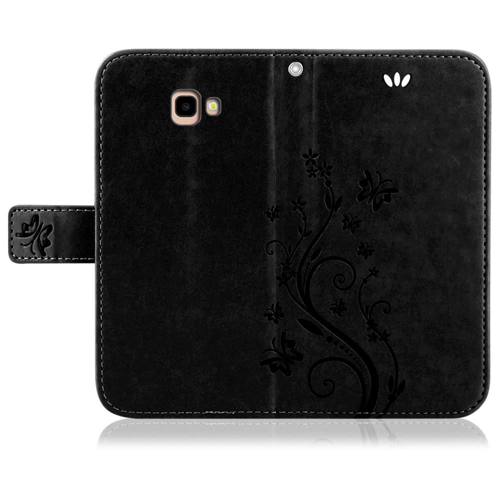 Samsung-Handy-Tasche-Handyhuelle-Schutz-Huelle-Blumen-Flip-Cover-Buch-Case-Etui Indexbild 174