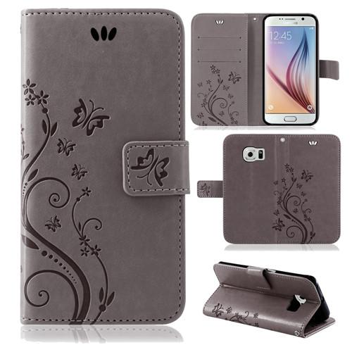 Samsung-Handy-Tasche-Handyhuelle-Schutz-Huelle-Blumen-Flip-Cover-Buch-Case-Etui Indexbild 46
