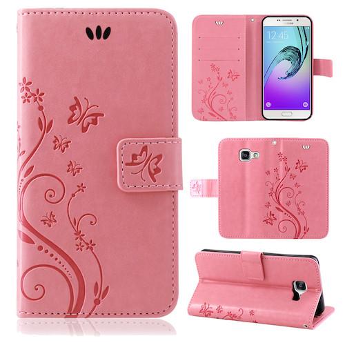 Samsung-Handy-Tasche-Handyhuelle-Schutz-Huelle-Blumen-Flip-Cover-Buch-Case-Etui Indexbild 107