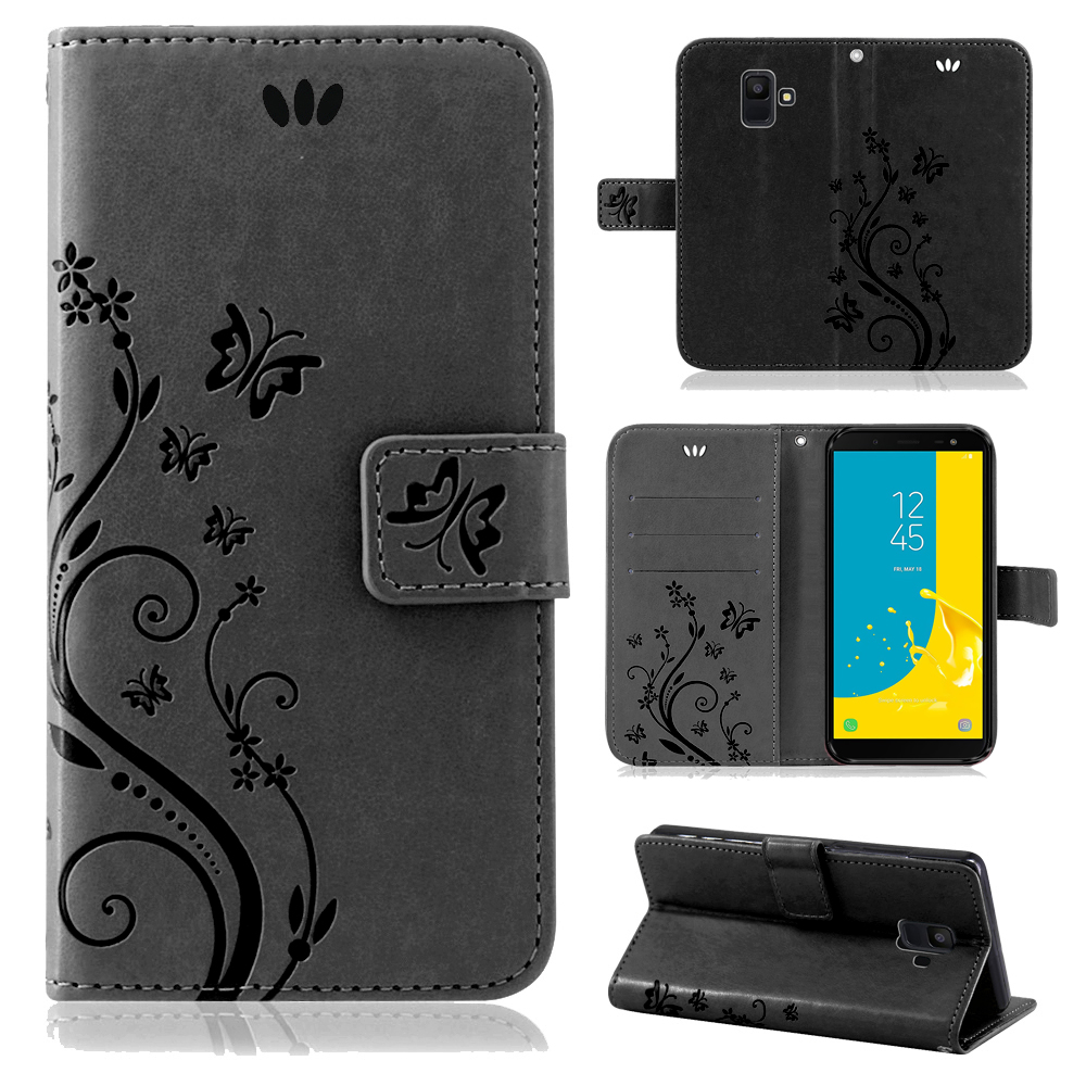 Samsung-Handy-Tasche-Handyhuelle-Schutz-Huelle-Blumen-Flip-Cover-Buch-Case-Etui Indexbild 178