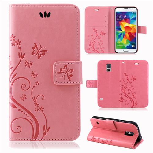 Samsung-Handy-Tasche-Handyhuelle-Schutz-Huelle-Blumen-Flip-Cover-Buch-Case-Etui Indexbild 37