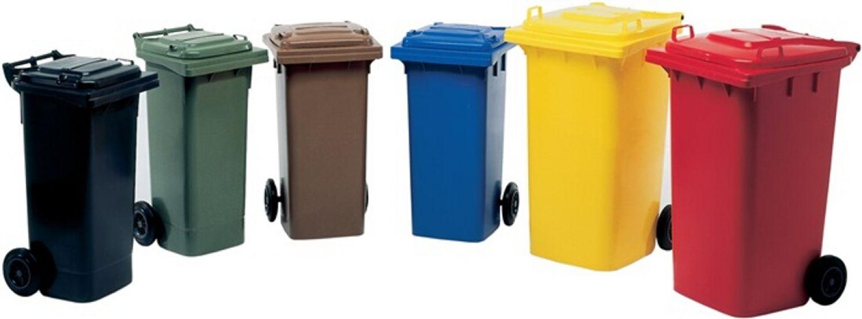 SULO Müllgroßbehälter 240l grau a.Niederdruck-PE Rad-D.200mm