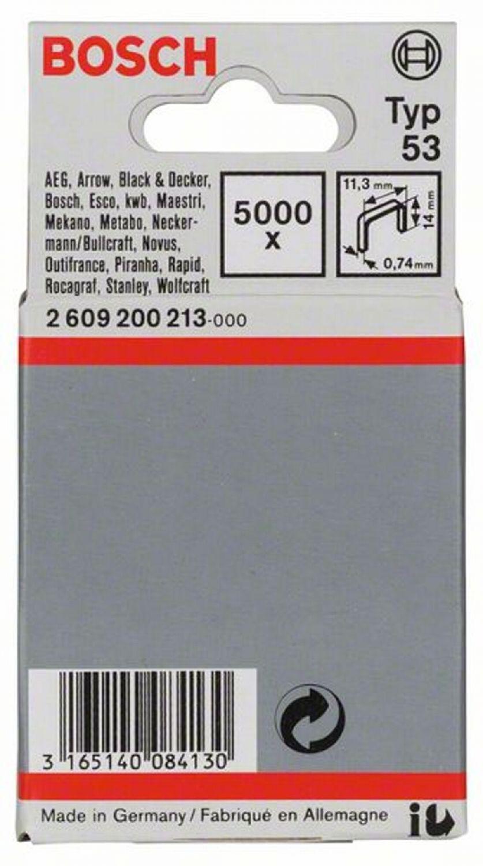 11,4 x 0,74 x 18 mm 1000er-Pack Bosch feindraht parenthèse Type 53