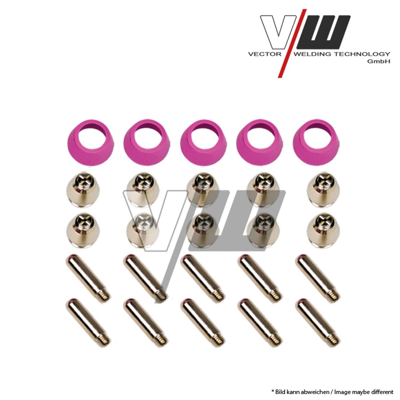Plasmaschneider Verschleissteile Set 22-teilig für Plasmaschneidbrenner PT-60