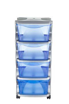 Bama Rollcontainer Büroschrank 4 C Silber 36 x 40 x 80 99005