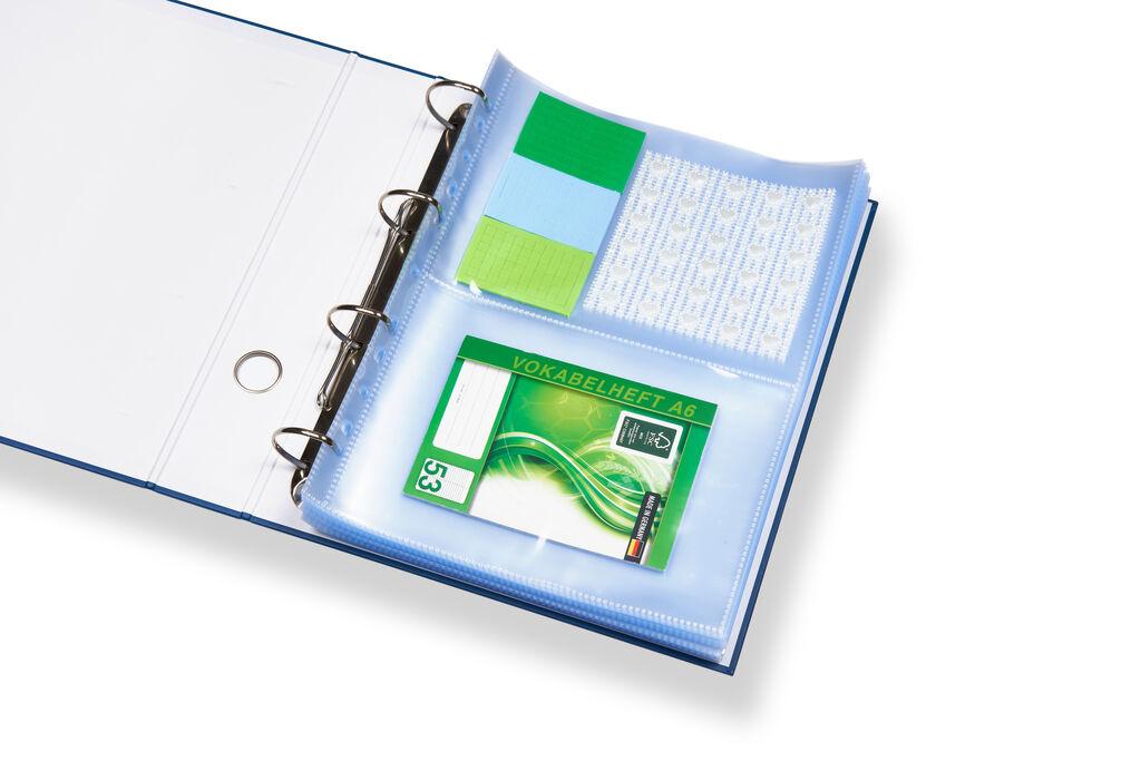 perfect line 100 Prospekthüllen A4 Sichthüllen 2 GETEILT Sammel /& Karten Hüllen
