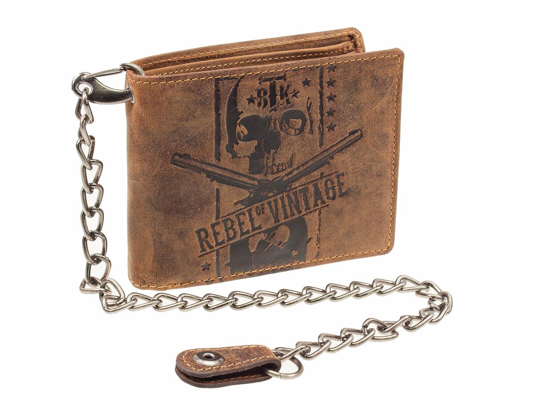 Greenburry Vintage Rebell Skull Totenkopf Geldbörse Bikerbörse Sicherheitsbörse