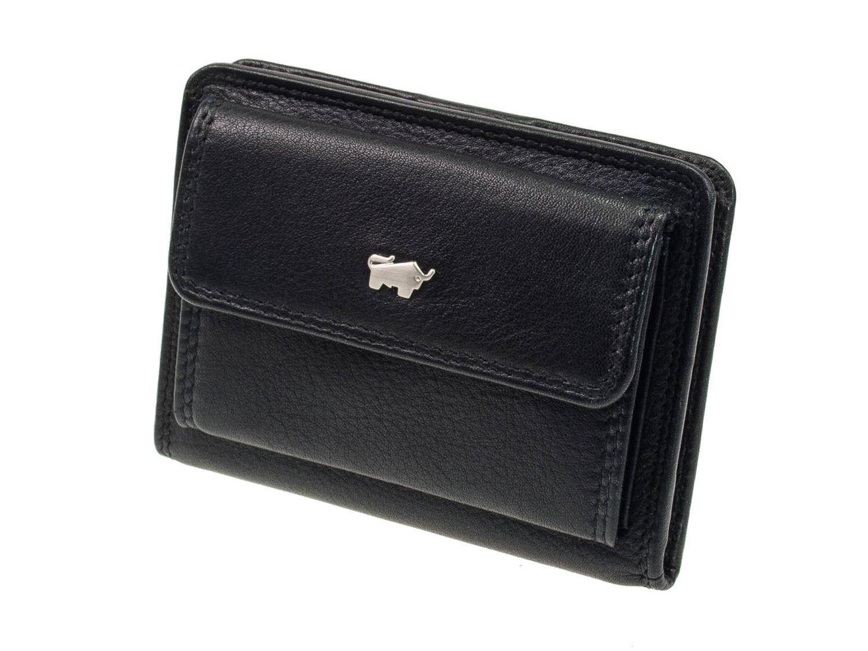 9184079a2b4cc Braun Büffel Golf Leder Minigeldbörse Schwarz Geldbeutel kleines  Portemonnaie