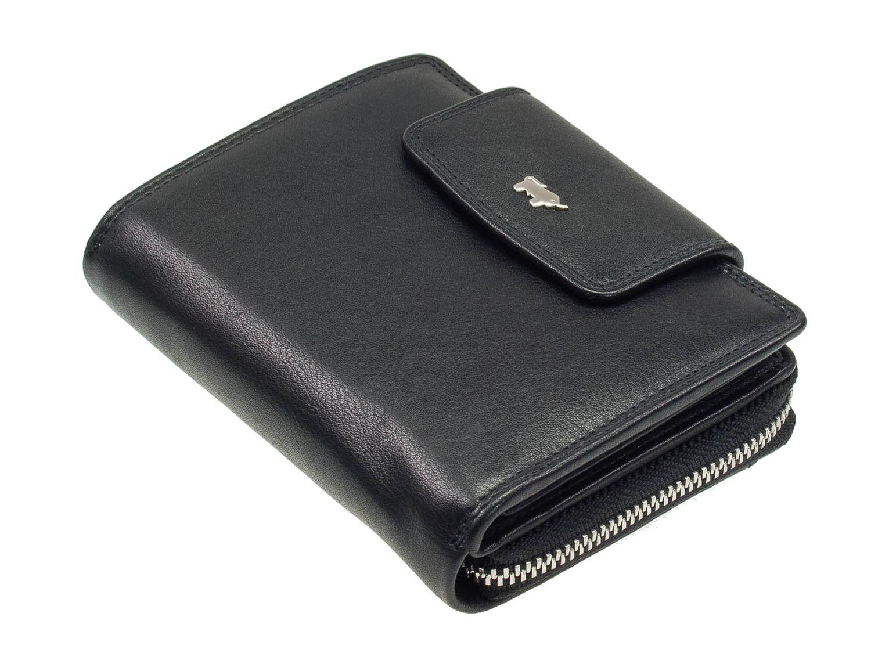 7ef484be290f8 Braun Büffel Golf 2.0 Leder Damen Reißverschluss Geldbörse Schwarz  Portemonnaie