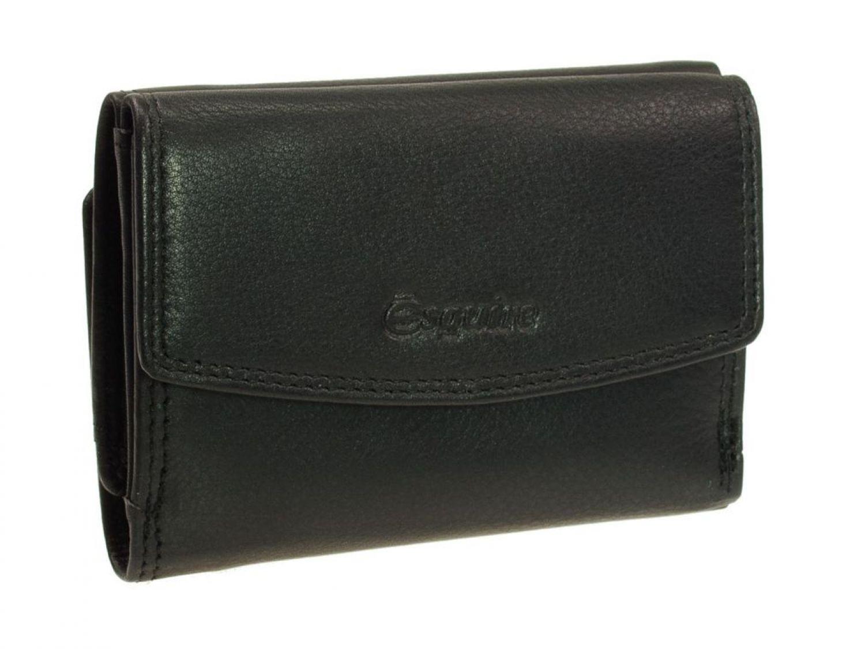 Esquire Duo Leder kleine Geldbörse 2211-59 Schwarz Minigeldbeutel