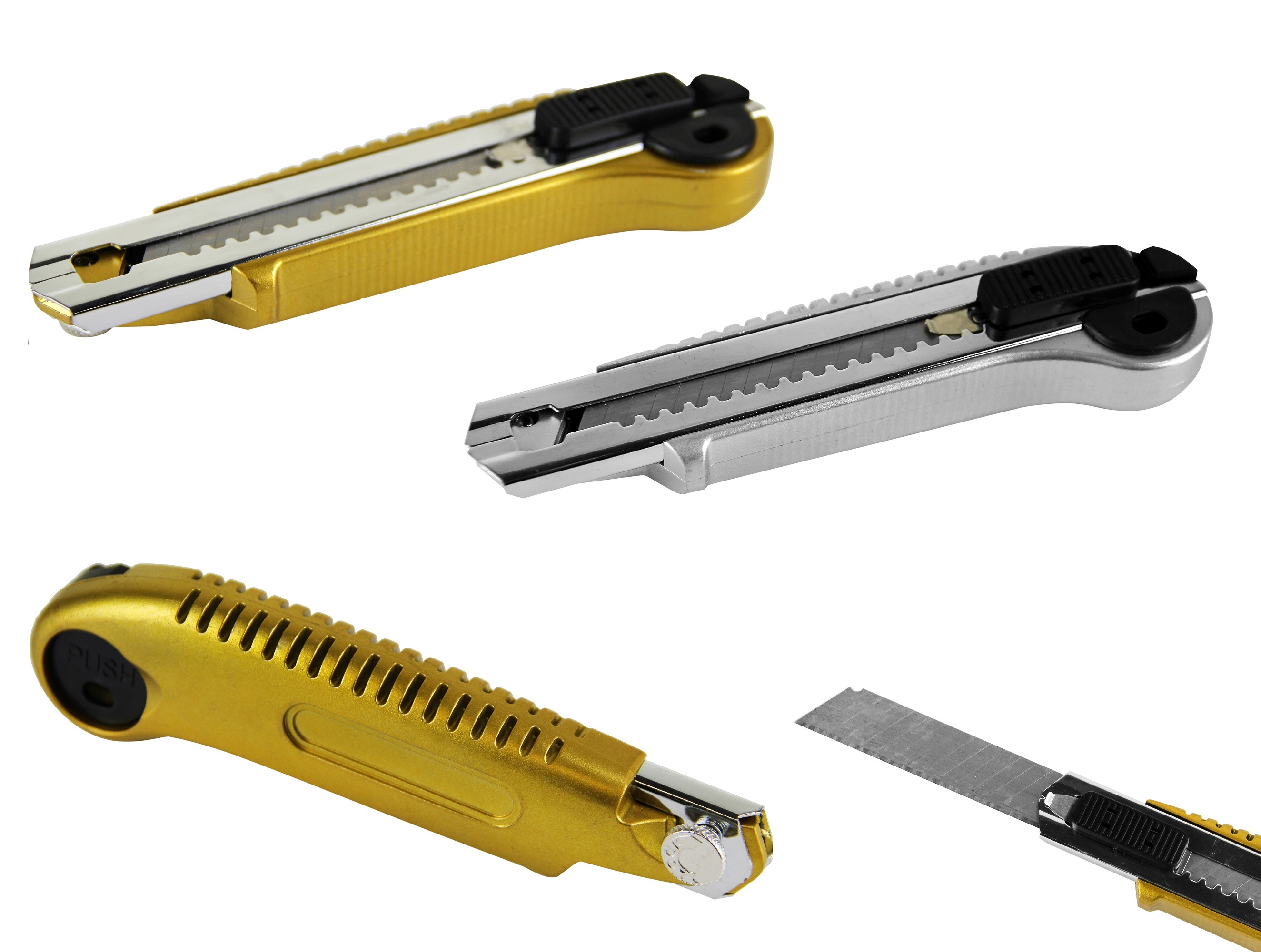 Cuttermesser 18mm Arretierung über Drehrad Cutter Teppich Messer PRO