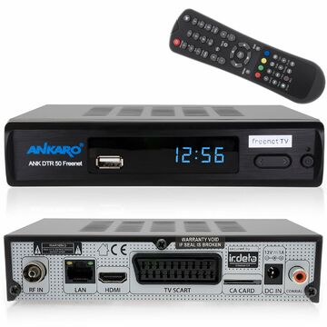 Opticum DVB-T2 Receiver inklusive DVB-T AX 570 Freenet TV digitaler H.265 Empf/änger inklusive DVB-T Antenne in schwarz