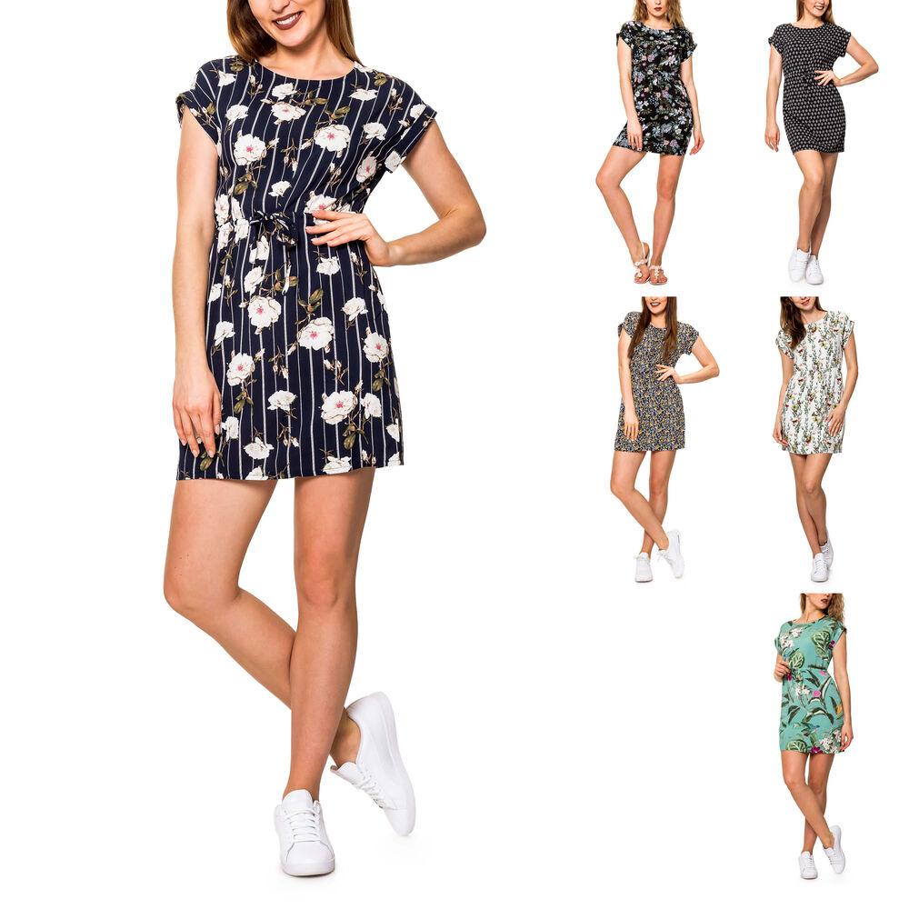Vero Moda Damen Sommerkleid Shirtkleid Jerseykleid Kleid Tunika Longshirt