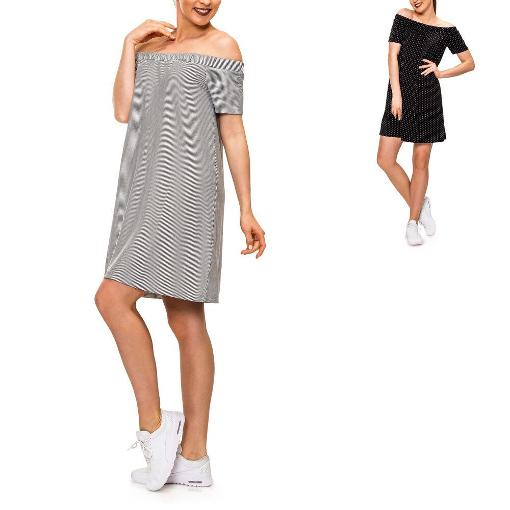 Hailys Damen Kleid Etuikleid Jerseykleid Stretchkleid Langarmkleid Minikleid