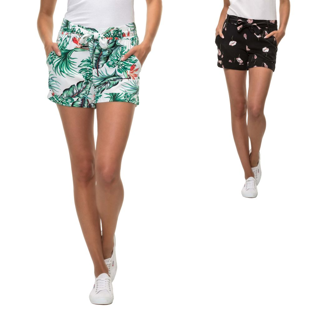 Hailys Damen Sommer Shorts Print Comfort Fit Casual Damenshorts ... 9263de86ce