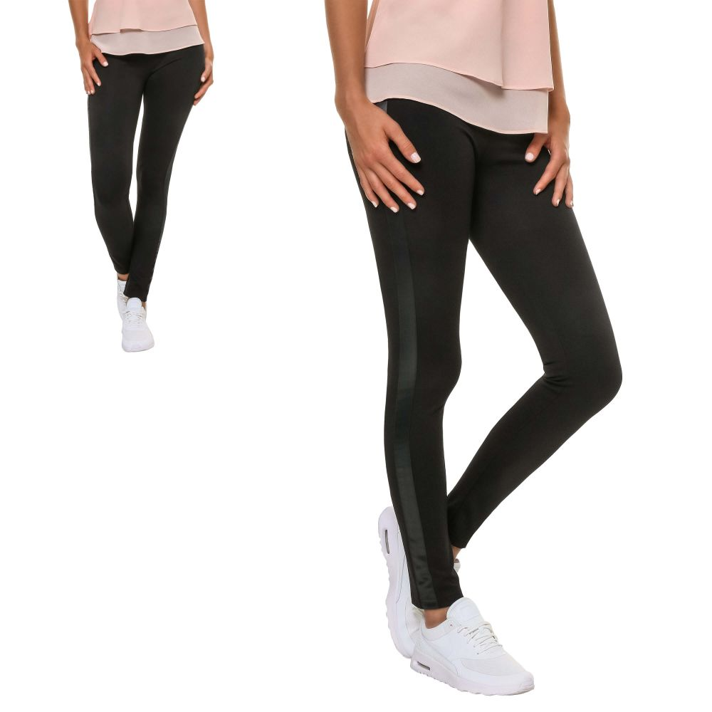Only Damen Kunstleder Leggings Skinny Fit Damenhose Stretchhose Streetwear
