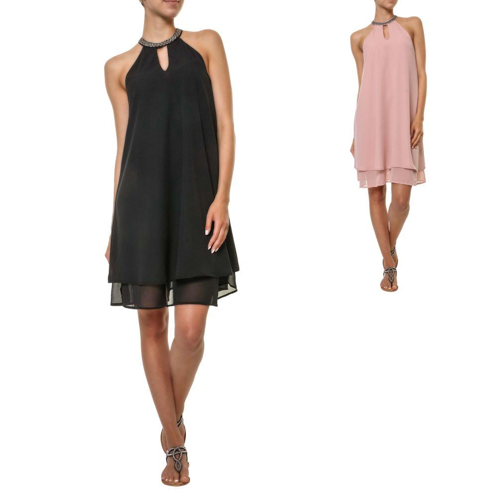 Only Damen Sommerkleid Choker Dress Kleid Party Cocktailkleid ... 18a88f6893