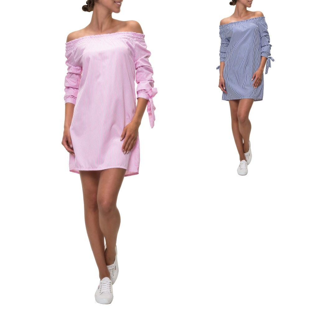 5b244cd4974 Hachiro Damen Off Shoulder Kleid Schulterfreies Cocktailkleid ...