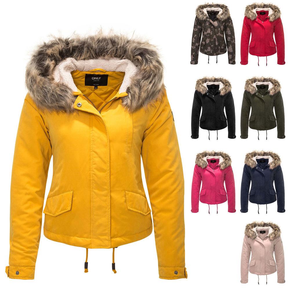 37cbf1c1f8c5 Only Damen Parka Winterjacke Kapuzenjacke Damenjacke Jacke ...