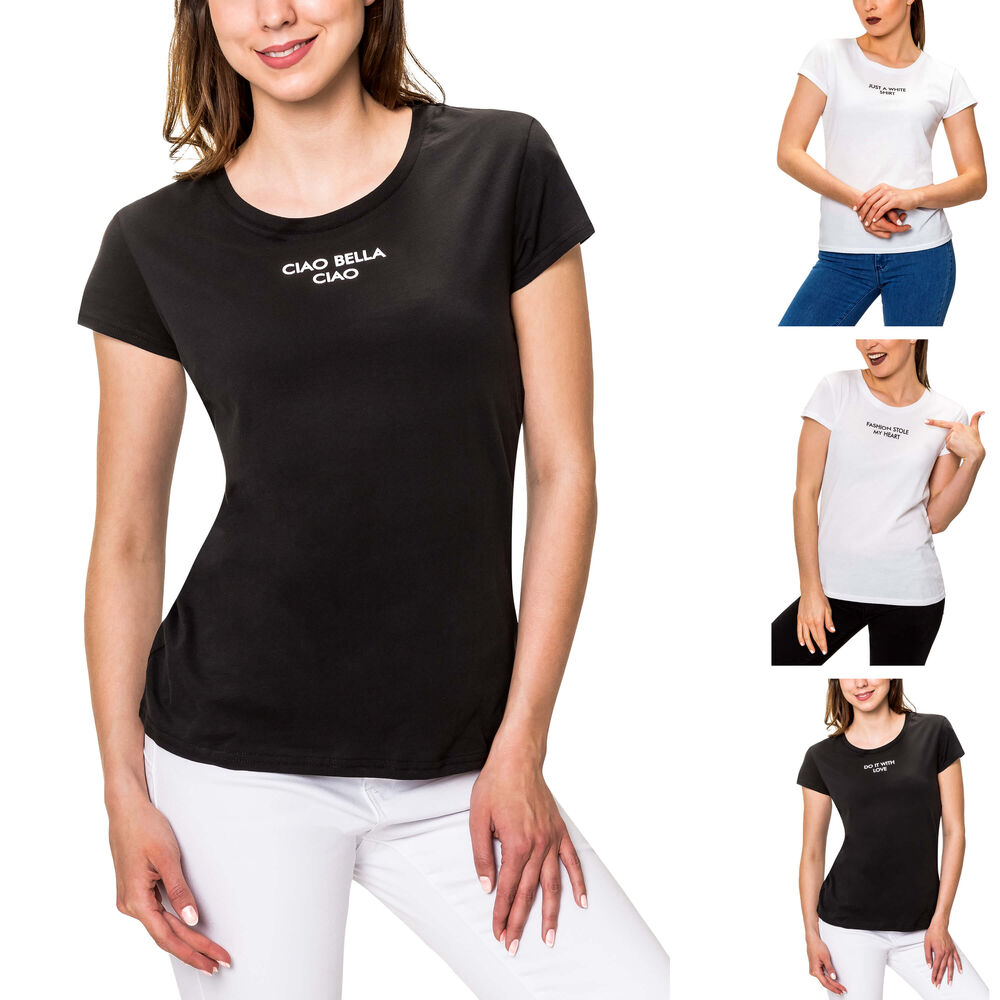 Hailys Damen Tank Top Printshirt Stretchshirt T-Shirt Shirt Print Sommertop SALE