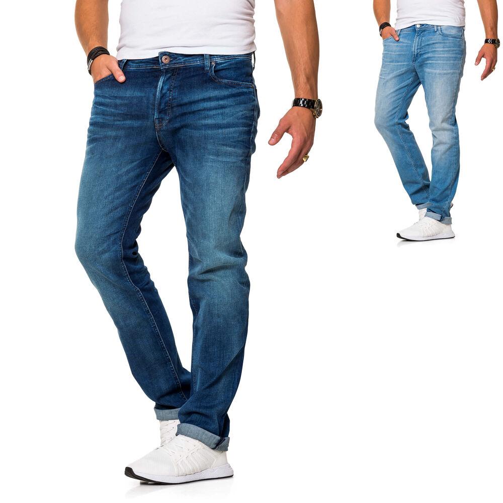 JACK /& JONES Herren Jeans Clark ARIS Regular Fit Straight Leg Denim Herrenhose