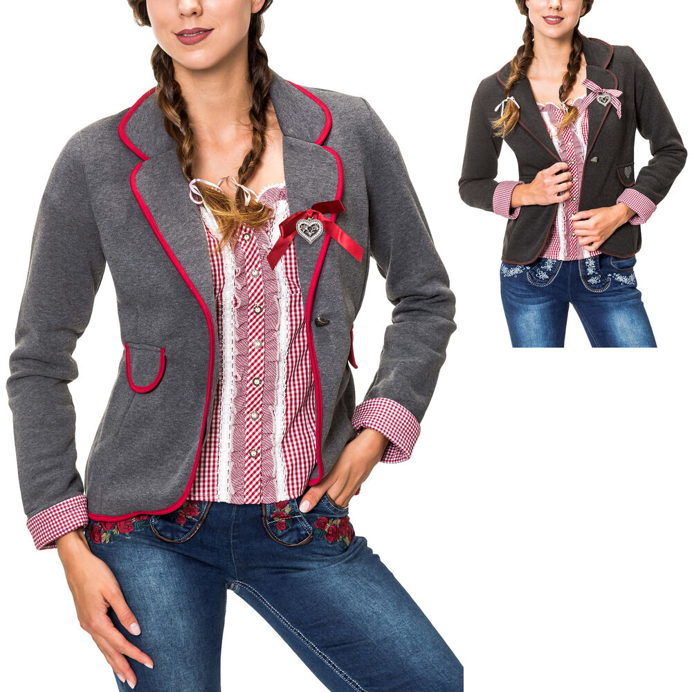 Hailys Donna Trachten Giacca Hoodie cappotto da donna Sweatjacke Oktoberfest Oktoberfest Sale
