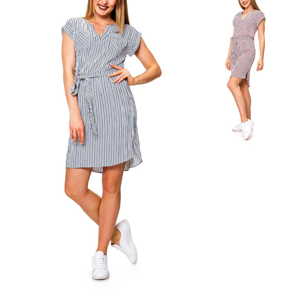 details zu only damen blusenkleid sommerkleid kurzarmkleid tunikakleid mit  streifen