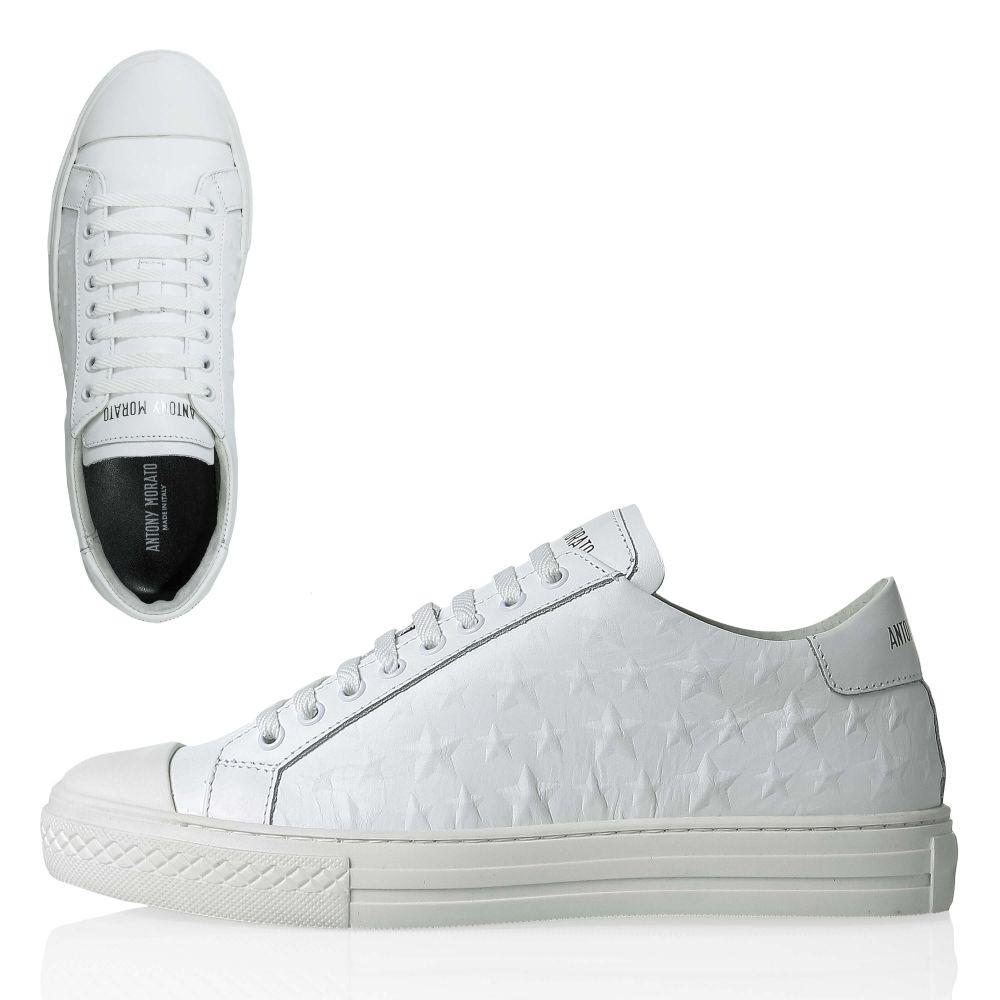 Details zu NEU Antony Morato Herren Sneaker Low Top Echtleder Casual Italienische Mode
