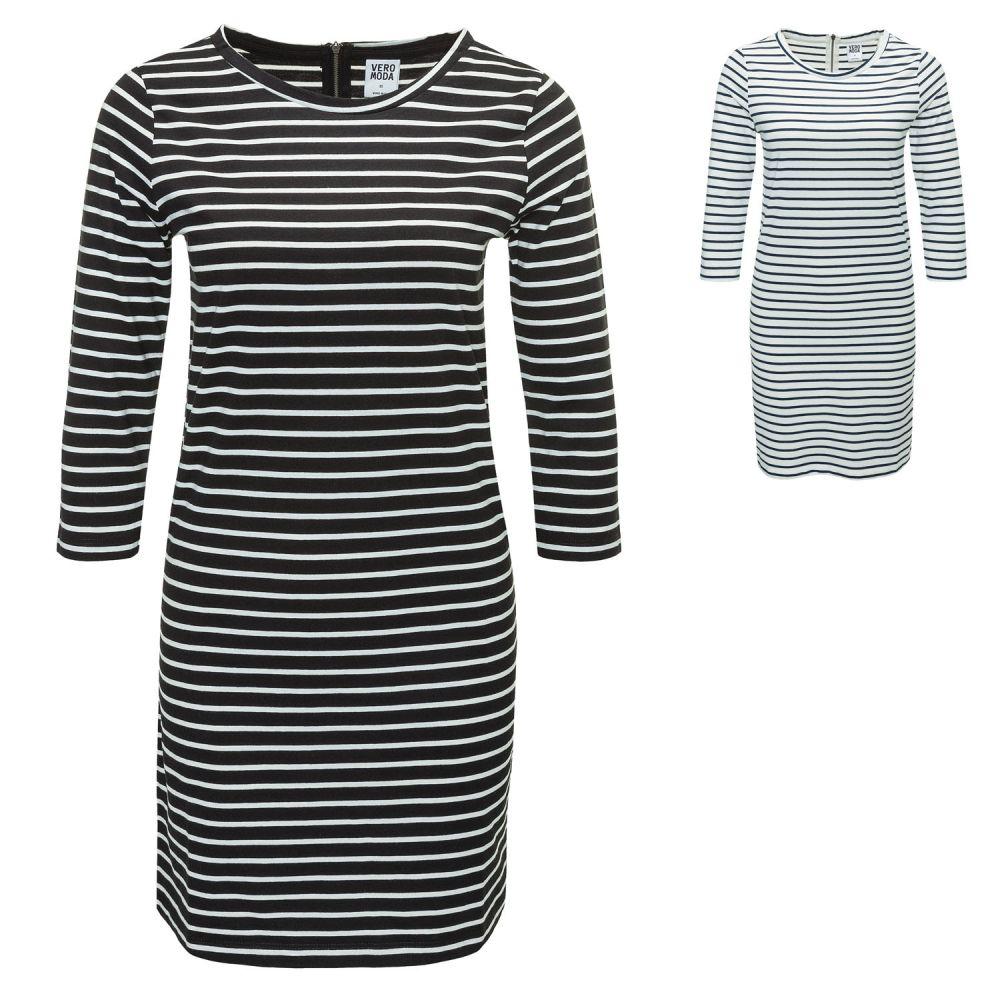 3a41b412ea1 Vero Moda Damen Jersey-Etuikleid Shirtkleid Kleid 3 4 Short Dress ...